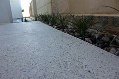 Gallery - Perth Exposed Aggregate More Honed Concrete, Concrete Driveways, Exposed Concrete, Polished Concrete, Concrete Backyard, Concrete Floors, Driveway Landscaping, Modern Landscaping, Outdoor Landscaping