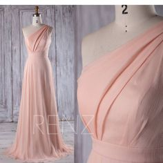 Bridesmaid Dress Peach Chiffon Dress Wedding Dress One Shoulder Maxi Dress Long A Line Evening Dress Ruched Sleeveless Party 2016 Peach Chiffon Bridesmaid Dress One Shoulder by RenzRags A Line Evening Dress, Evening Dresses, Prom Dresses, Wedding Dresses, Dress First, The Dress, Peach Bridesmaid Dresses, Bridesmaids, Wedding Dress Chiffon