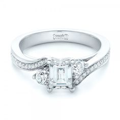 Custom Three Stone Diamond Engagement Ring
