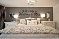 Are you and your husband or wife BFF's for life? Than this is the perfect Best Friends For Life Husband Wife Wall Art for your romantic bedroom ideas. - Home Decor Styles Dream Bedroom, Home Bedroom, Warm Bedroom, Pretty Bedroom, White Bedroom Set, Shabby Bedroom, Bedroom Neutral, Bedroom Simple, Dream Rooms