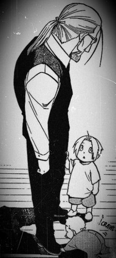 Hohenheim with little Ed and Al Fullmetal Alchemist 鋼の錬金術師 Ed and Al are so cute! Elric Brothers, 鋼の錬金術師 Fullmetal Alchemist, Alphonse Elric, Edward Elric, Me Me Me Anime, Alchemy, Tokyo Ghoul, Vocaloid, Manga Anime