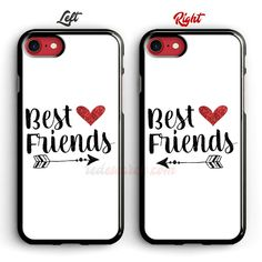 BFF phone case Iphone Cases Bling, Iphone Cases For Girls, Cool Iphone Cases, Phone Cases Samsung Galaxy, Diy Phone Case, Iphone Wallet Case, Bff Cases, Couples Phone Cases, Design Your Own Case