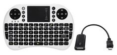 Wireless Mini Keyboard With OTG Cable For Samsung Galaxy S4 (S IV), Galaxy S3 (S III), Galaxy S II, Galaxy Note 2 (Note II), Galaxy Note