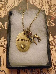Harry Potter Snape Patronus and Always Charm Necklace £10.00 oh my gosh I need this!!