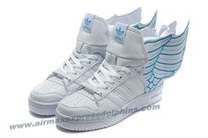 Adidas X Jeremy Scott Wings 2.0 Shoes White Blue Outlet