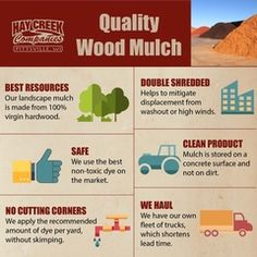 A little about what makes Hay Creek mulch, made in Wisconsin, stand out from some brands. Made from virgin hardwood. Hay Creek Companies is always looking for distributors in Wisconsin. Lawn Care Business, Recyle, Mulch Landscaping, Scrap Material, Recycled Pallets, Garden Projects, Wisconsin, Hardware Stores