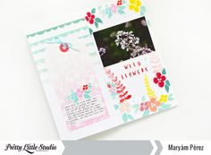 Hello, friends! Maryám here to share two new pages of my beloved Travelers Notebook. I love creating in this format because it's easier and faster than a layout.For today's project, I decided to experiment with the flowers of the Blooming Heart Collection from Zinia Amoiridou. I tried to…