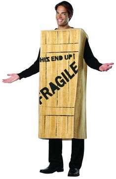 Rasta Imposta A Christmas Story Fragile Wooden Crate Costume, Tan, One Size