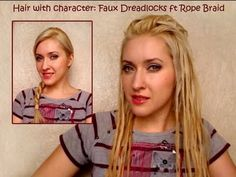 How to Create faux dreadlocks using a two strand rope braid « Hairstyling :: WonderHowTo