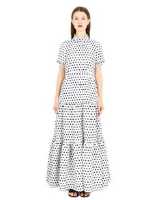 KATYA DOBRYAKOVA POLKA DRESS SS 2016  Polka dress shirt collar front closure with press-studs fully openable short sleeves with press-studs removable belt with lining fabric 1: 80% Acrylic 20% Cotton fabric 2: 95% Silk 5% Spandex professional cleaning