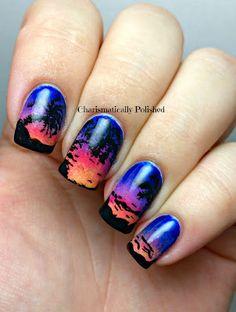 Sunset Manicure Nail Art