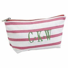 Sea Breeze Stripe Pouches - Pink #pbteen for Kiki