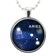 Aries Zodiac Necklace, Constellation Jewelry, Astrology Star Sign Pendant