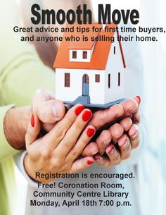 Check out our move professionals, home stager Anna Topolinsky, realtor Lily Ruggi and mortgage specialist Irma Sebastiano as they team up with great advice and tips for first time buyers, and anyone who is selling their home. Monday April 18th 7:00 p.m. Community Centre Library. FREE Niagara Falls Public Library