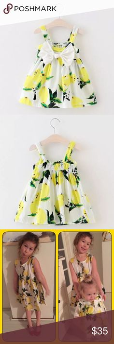 Spring Lemon Drop Dress With Big Bow Brand new airy and crisp spring dress. Ships same day. Bundle 3 items and save! Dresses
