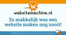 DIY Stel je site samen voor bedrijf of project. Makkelijk, snel, online je website bouwen. Easy  mèt CMS, Websitemachine.nl  Even zelf maken en Draaien maar! Stel, Web Design, Website, Easy, Design Web, Website Designs, Site Design