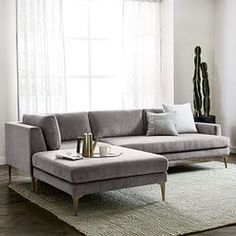 Andes 3-Piece Chaise Sectional - Metal