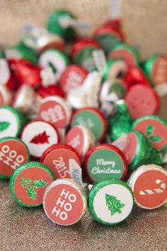 DIY your own Hershey Kiss Christmas stickers using the Cricut Explore and our free cut files!