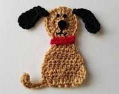 Image result for crochet dog appliques