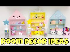 How to make hidden money stash-kawaii room decor using recycled items. Today´s video is going to be something cute but also very functional as most of my eas. Diy Room Decor Tumblr, Diy Wall Decor, Diy Home Decor, Decor Room, Bedroom Decor, Kawaii Diy, Kawaii Crafts, Kawaii Room, Diy Apartment Decor