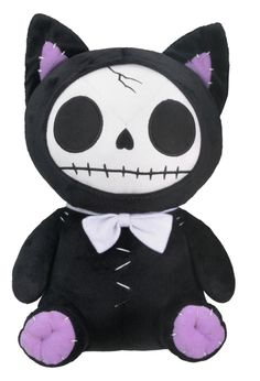 Black Mao Mao Furry Bones Skellies Plush Toy [1149S] - $21.99 : Mystic Crypt, the most unique, hard to find items at ghoulishly great prices!