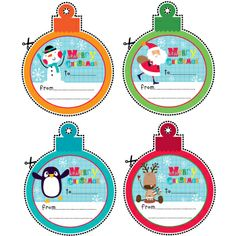 Free printable Christmas gift tags - 4 designs to choose from