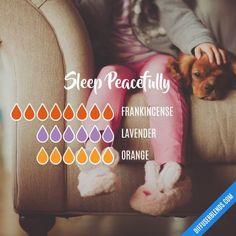 Sleep Peacefully - Essential Oil Diffuser Blend #EssentialOilBlends