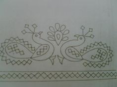 i have been associated with kutch work is it? soon i will have some work to show. Hand Embroidery Videos, Hand Work Embroidery, Embroidery Patterns Free, Embroidery Techniques, Peacock Embroidery Designs, Kasuti Embroidery, Kutch Work Designs, Hand Work Blouse Design, Blackwork Patterns
