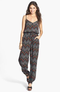 Liberty Love Geometric Print Jumpsuit (Juniors) available at Floral Jumpsuit, Printed Jumpsuit, Jumpsuits For Women, Fashion Brands, Liberty, Topshop, Nordstrom, Cravings, Clothes