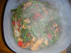 Garlic Chicken Breast With String Beans - Delicious! I didn't have rice wine so I substituted sherry. Also didn't have black bean paste so I used hoisin sauce. Definitely will make again soon!