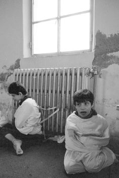 Autistic children strapped to radiators inside a mental hospital in Mental Asylum, Insane Asylum, Haunting Photos, Creepy Photos, Mental Illness Quotes, Old Hospital, Psychiatric Hospital, Abandoned Asylums, Psychological Well Being