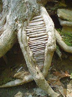 57 Ideas Natural Wood Sculpture Andy Goldsworthy For 2019 Land Art, Andy Goldsworthy Art, Ephemeral Art, Tree Sculpture, Outdoor Sculpture, Wire Sculptures, Abstract Sculpture, Environmental Art, Outdoor Art