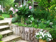 .What an amazing path, and flower bed!