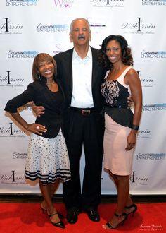 Me, Stedman Graham & Vicki Irvin. Great time at the Vicki Irvin Event!