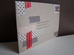 Envelope decorated with MT Japanese Masking Tape by Ainslee by MT Masking Tape, via Flickr