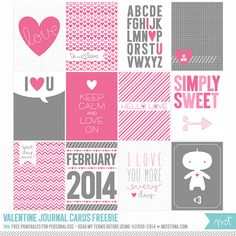 Valentine Journal Cards  //  Freebie
