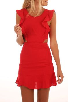 Forever Young Dress Red