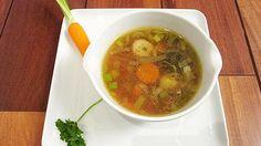 Rezept: Frisch gemachte Rindersuppe mit Gemüse der Saison