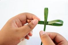 How to make a cross out of a Palm Frond