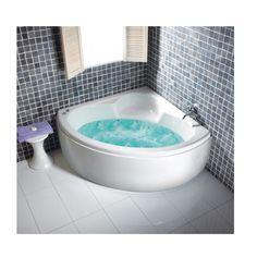 Carron Monarch Corner Bath 1300 x 1300 x 400mm, Carronite - White