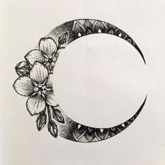 Flower moon tattoo