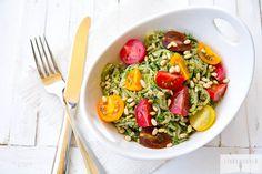 Zucchini Noodles with Spicy Kale & Walnut Pesto via Linda Wagner