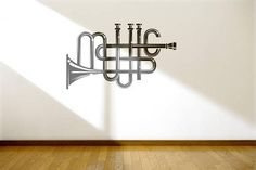 Music Typography Wall Decal | Decals for Music enthusiasts...