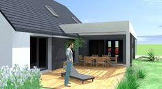 """Résultat de recherche d'images pour """"extension de maison avec toit plat"""""""