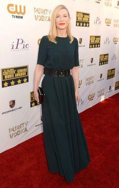 Cate Blanchett - boring for an Awards show 2014 Jan.