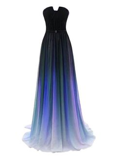 Charming Gradient Blue and Black Floor Length, Girls Senior Prom Gowns – BeMyBridesmaid Source by roisewu for teens Ombre Prom Dresses, Pretty Prom Dresses, Elegant Dresses, Homecoming Dresses, Cute Dresses, Beautiful Dresses, Prom Gowns, 1950s Dresses, Ombre Gown