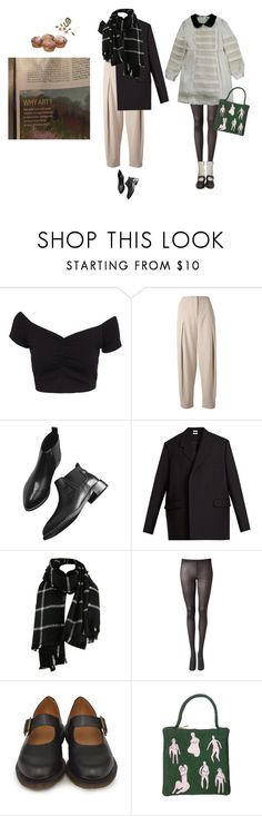 """""""and we're changing our ways, taking different roads"""" by haomind ❤ liked on Polyvore featuring NLY Trend, Emporio Armani, Vetements, Witchery, Dr. Martens, contestentry and polyPresents"""