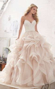 Courtesy of Morilee Wedding Dresses by Madeline Gardner; Wedding dress idea. #weddingdresses