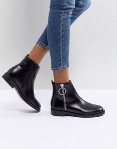 Azalea - Stiefel im Western-Stil aus schwarzem Leder - Schwarz Office hOulR