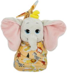 Disney Dumbo Plush with Blanket Pouch - Disney's Babies - Small Casa Disney, Disney Home, Baby Dumbo, Disney Stuffed Animals, Disney Plush, Elmo Birthday, Disney Babies, Disney Merchandise, Cute Dolls